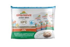 Набор паучей ALMO NATURE для взрослых кошек с тунцом 6 шт. по 55 гр. Multipack ClassicClassic Jelly Tuna