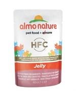 Пауч ALMO NATURE Classic Nature Jelly – Tuna/Shimps тунец с креветками в желе для взрослых кошек