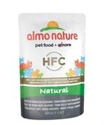 Пауч ALMO NATURE Classic Nature – Tuna and Whitebait для взрослых кошек с филе тунца и сардинками 75% мяса