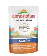 Пауч ALMO NATURE для взрослых кошек холистик с куриным филе и сыром  Classic Cuisine – Chicken Fillet and Cheese