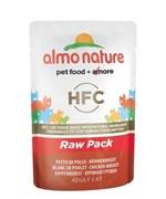 Пауч ALMO NATURE Classic Raw Pack – Chicken Breast для взрослых кошек с куриной грудкой 75% мяса