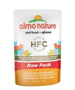 Пауч ALMO NATURE для взрослых кошек с куриной ножкой 75% мяса Classic Raw Pack – Chicken Drumstick