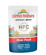 Пауч ALMO NATURE Classic Raw Pack – Mackerel для взрослых кошек cо скумбрией 75% мяса