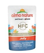 Пауч ALMO NATURE для взрослых кошек тунец и камбала в желе Classic Nature Jelly – Tune/Sole