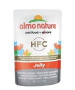 Пауч ALMO NATURE для взрослых кошек с тунцом и сардинками в желе Classic Nature Jelly – Tuna/White Bait