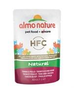 Пауч ALMO NATURE Classic Nature – Tuna/Chicken для взрослых кошек с тунцом и курицей