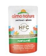 Пауч ALMO NATURE для взрослых кошек с лососем и тыквой  Classic Nature – Salmon/Pumpkin