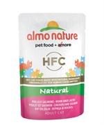 Пауч ALMO NATURE для взрослых кошек с курицей и лососем Classic Nature – Chicken/Salmon