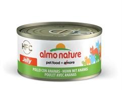 Консервы ALMO NATURE HFC Jelly Adult Chicken and Рineapple для взрослых кошек с курицей и ананасами в желе