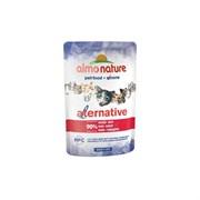 Пауч ALMO NATURE Alternative – Beef для взрослых кошек с говядиной 90% мяса