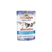 Пауч ALMO NATURE Alternative для взрослых кошек Атлантический тунец 91% мяса (Atlantic Tuna)