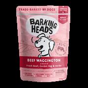 """Пауч BARKING HEADS Beef Waggington для взрослых собак с говядиной и бурым рисом """"Вуф-Строганов"""""""