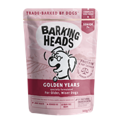"Пауч BARKING HEADS Golden Years для собак старше 7 лет с курицей и лососем ""Золотые годы"""