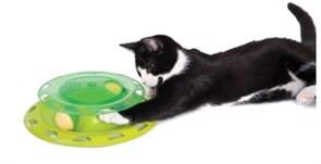 Игрушка Petstages для кошек Трек с контейнером для кошачьей мяты