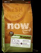 Беззерновой сухой корм NOW Grain Free Small Breed Senior Recipe для пожилых собак малых пород с индейкой, уткой и овощами