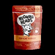 """Пауч BARKING (MEOWING) HEADS Top Cat Turkey для котят и кошек с индейкой, говядиной и курицей """"Аппетитная индейка"""""""