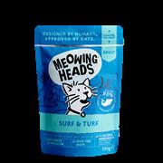 """Пауч BARKING (MEOWING) HEADS SUPURRR SURF and TURF для котят и кошек с сардинами, тунцом, курицей и говядиной """"Все лучшее сразу"""""""