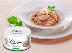 Консервы PETTRIC Cherie Hairball для взрослых кошек для вывода шерсти тунец с мясом краба в подливе