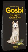 Беззерновой cухой корм GOSBI Exclusive GF для взрослых собак средних пород с рыбой