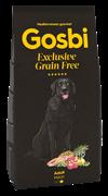 Беззерновой cухой корм GOSBI Exclusive GF для взрослых собак крупных пород с лососем и янгенком