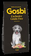 Беззерновой cухой корм GOSBI Exclusive GF для щенков всех пород с лососем и янгенком