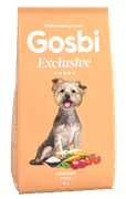 Низкозерновой cухой корм GOSBI Exclusive для взрослых собак малых пород с курицей