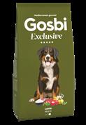 Низкозерновой cухой корм GOSBI Exclusive для взрослых собак крупных пород с ягненком
