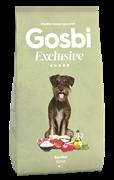 Низкозерновой cухой корм GOSBI Exclusive для пожилых собак малых пород с курицей, ягненком и рыбой