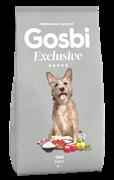 Низкозерновой cухой корм GOSBI Exclusive для взрослых собак малых пород склонных к избыточному весу с курицей, ягненком и рисом