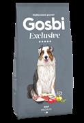 Низкозерновой cухой корм GOSBI Exclusive для взрослых собак средних пород склонных к избыточному весу с курицей, ягненком и рисом
