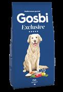Низкозерновой cухой корм GOSBI Exclusive для взрослых собак средних пород с рыбой