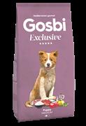 Низкозерновой cухой корм GOSBI Exclusive для щенков средних пород с курицей, рыбой и ягненком