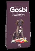 Низкозерновой cухой корм GOSBI Exclusive для щенков крупных пород с курицей, рыбой и ягненком