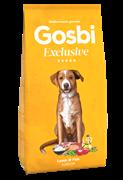 Низкозерновой cухой корм GOSBI Exclusive для юниоров средних и крупных пород с 4 месяцев с янгенком и рыбой