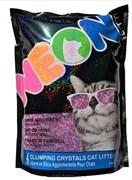 Комкующийся силикагелевый наполнитель Neon Litter фиолетовый