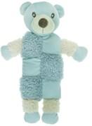 AROMADOG Игрушка для собак Мишка 20 см с 3 пищалками голубой