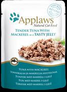 Пауч APPLAWS для взрослых кошек кусочки тунца со скумбрией в желе Tuna wholemeat with mackerel in jelly