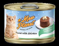 Консервы MEW PLANET для взрослых кошек паштет из тунца с мальками (ширасу)