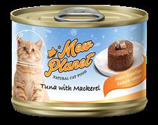 Консервы MEW PLANET для взрослых кошек паштет из тунца со скумбрией
