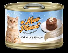 Консервы MEW PLANET для взрослых кошек паштет из тунца с курицей