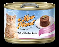 Консервы MEW PLANET для взрослых кошек паштет из тунца с анчоусами
