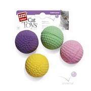 Набор бесшумных мячиков GIGWI для кошек 4 шт диаметр 4 см
