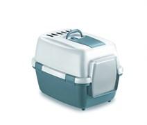 Туалет закрытый Stefanplast WivaCat Blu Acciaio/Bianco, 55*40*40 см с угольным фильтром