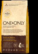 Сухой корм ONE&ONLY All Breeds Duck&Rice для взрослых собак всех пород с уткой и рисом