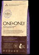 Сухой корм ONE&ONLY Adult Maxi Turkey&Rice для взрослых собак крупных пород с индейкой и рисом