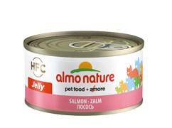 Консервы ALMO NATURE HFC Jelly Adult Cat Salmon для взрослых кошек с лососем
