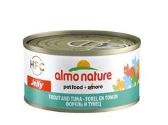 Консервы ALMO NATURE HFC Jelly Adult Cat Trout Tuna для взрослых кошек с форелью и тунцом