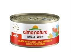 Консервы ALMO NATURE HFC Jelly Adult Cat Salmon Carrot для взрослых кошек с лососем и морковью