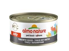 Консервы ALMO NATURE HFC Jelly Adult Cat Tuna Squids для взрослых кошек с тунцом и кальмарами