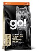 Беззерновой сухой корм GO! NATURAL Holistic для щенков и собак с Ягненком и мясом Дикого Кабана (GO! CARNIVORE GF Lamb + Wild Boar Recipe DF) 32/16